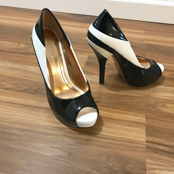 2225d09124 BCBGeneration Shoes - BCBGeneration Liberty Black and White Heels 5.5